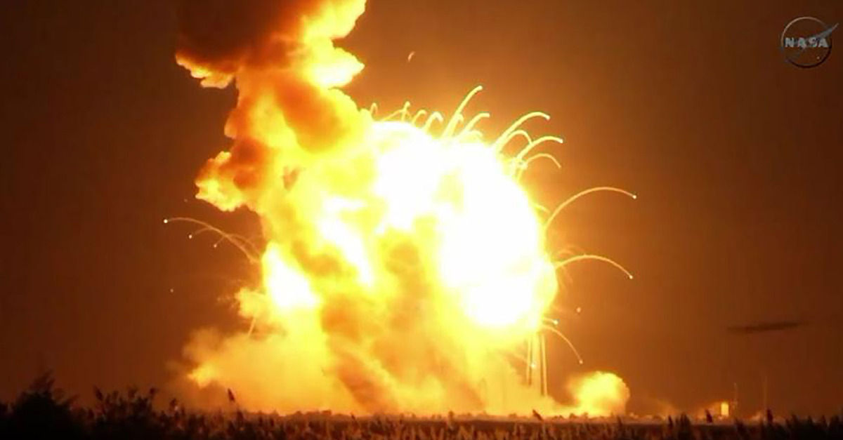 Antares Rocket Just Exploded During Launch to ISS