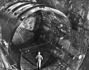 1966: Chlorine tank is constructed 4,800 feet underground for the solar neutrino experiments.